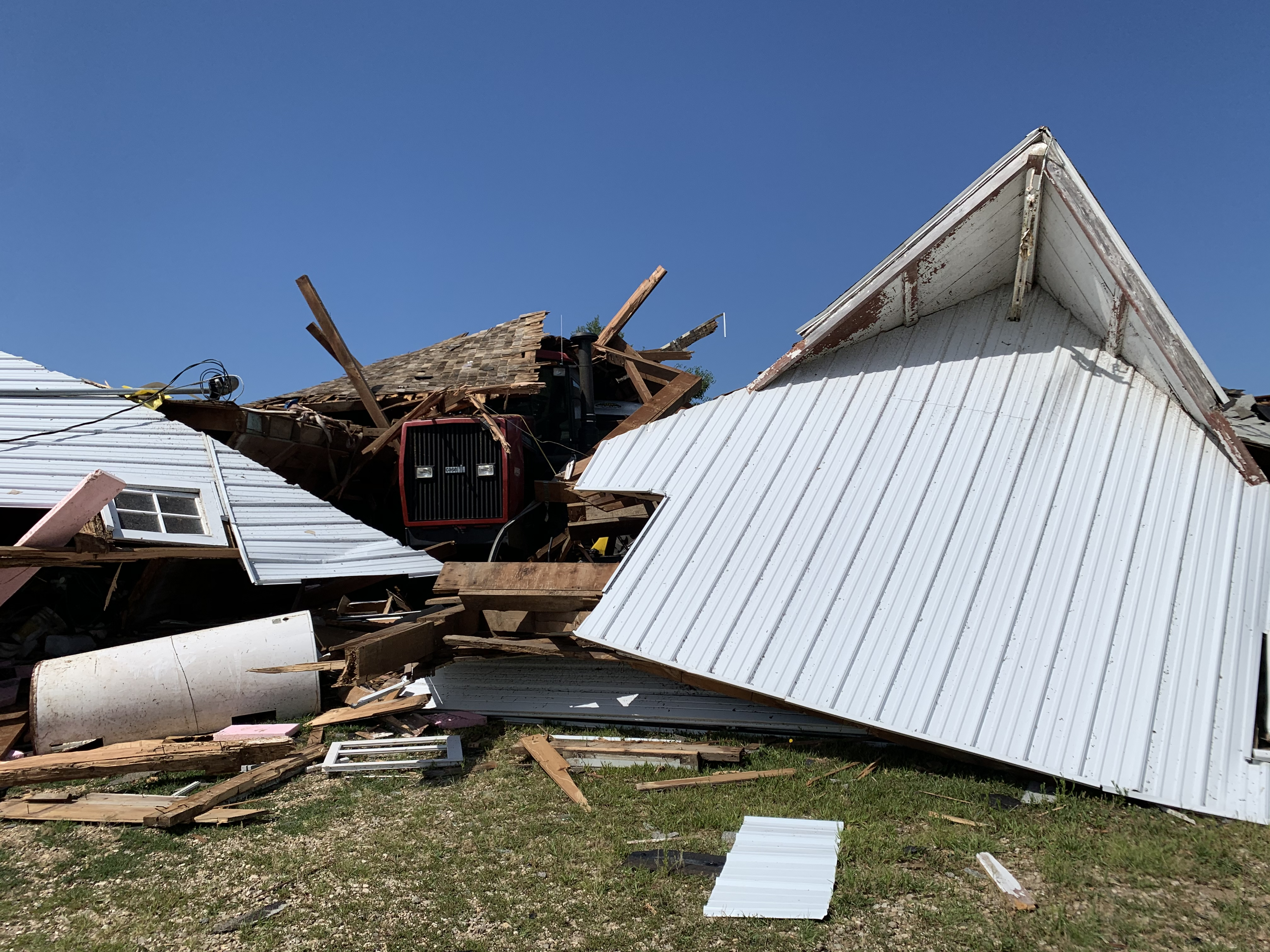 Just One of Several Collapsed Buildings on My In-Law's Farm
